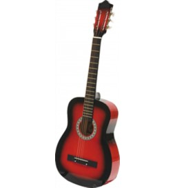 """GUITARE SECHE 38""""  ROUGE C-8 RB"""