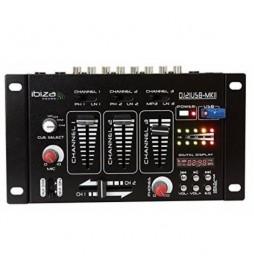 USB MIXER DIGITAL DISPLAY IBIZA 15-2046B - 10 VOIES - GRADE SHINY