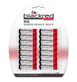 PACK 16 PILES R06 AA BLACKRED