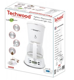 CAFETIERE PROGRAMMABLE BLANCHE TECHWOOD TCA-841