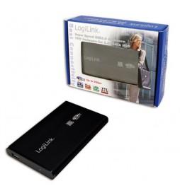 BOITIER DISQUE DUR 2.5 LOGILINK SATA USB 3.0 ALU NOIR UA0106