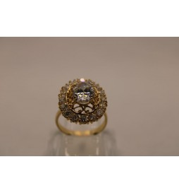 BAGUE MARQUISE OR 750/1000 6.53GRS OXYDE T56